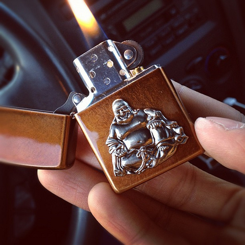 Zippo Lighter with Buddha