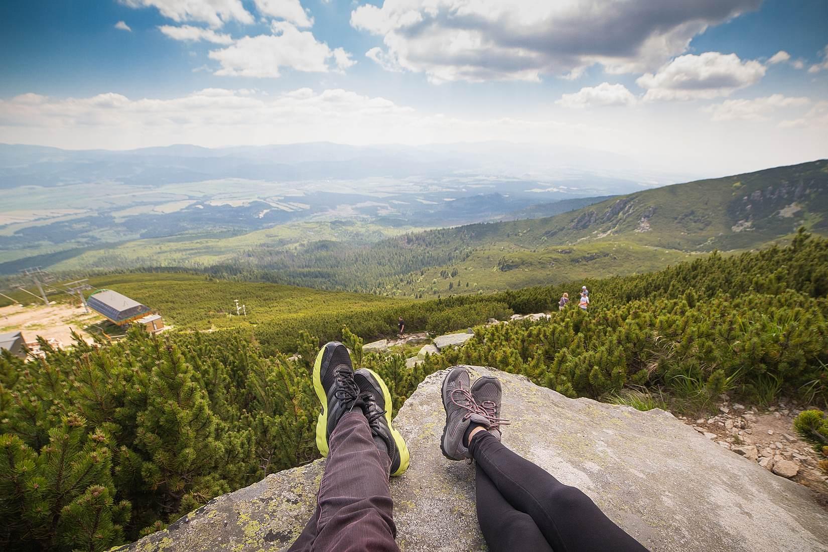 Two Hikers Taking a Break