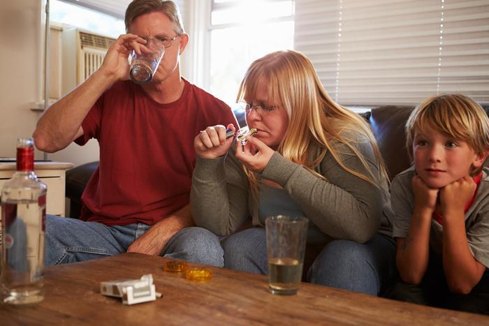 parents smoking weed