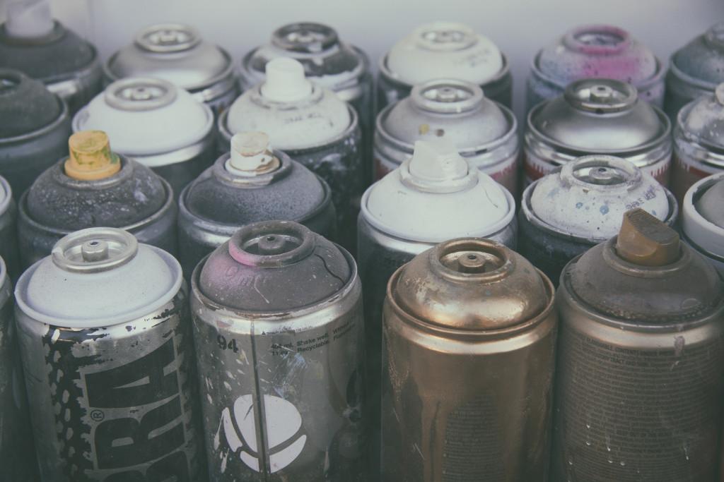 Making Stash Jars with spray paint