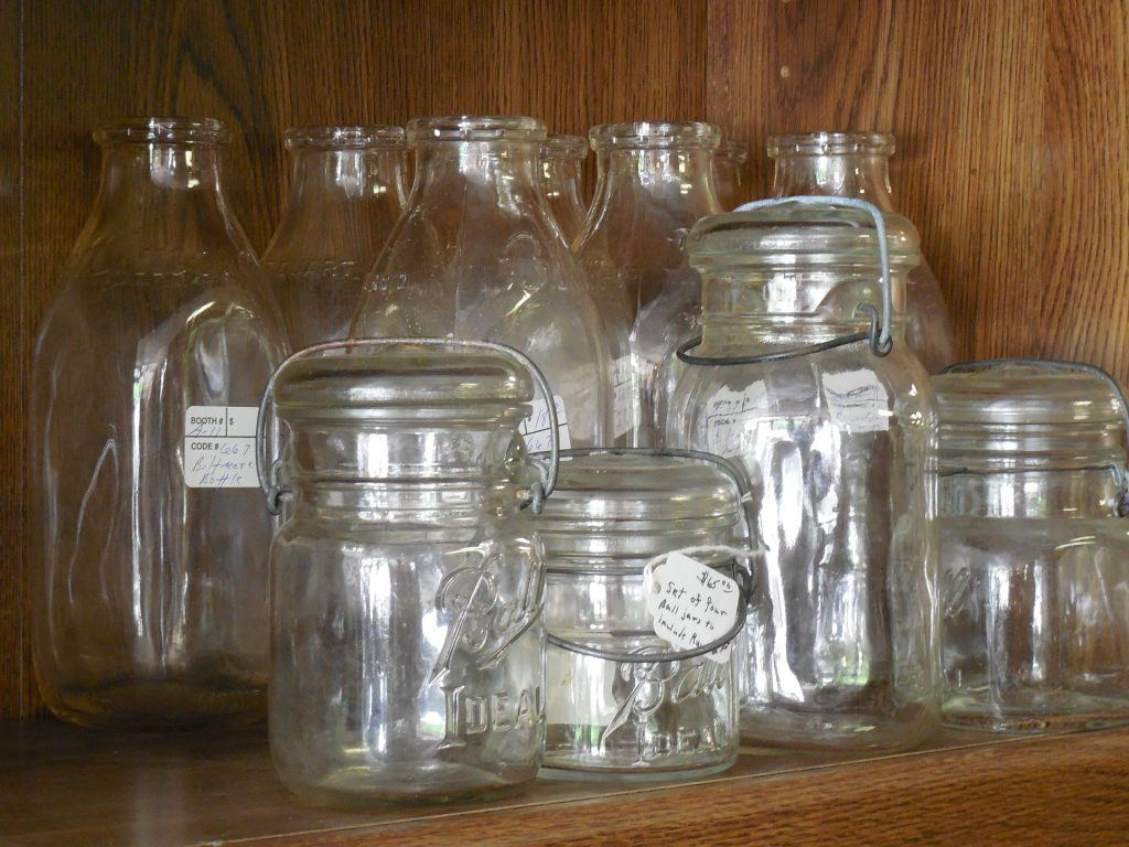 making stash jars with glass