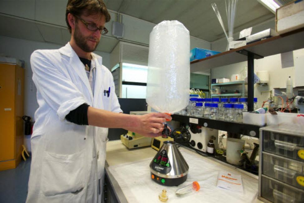 volcano vaporizer in the lab