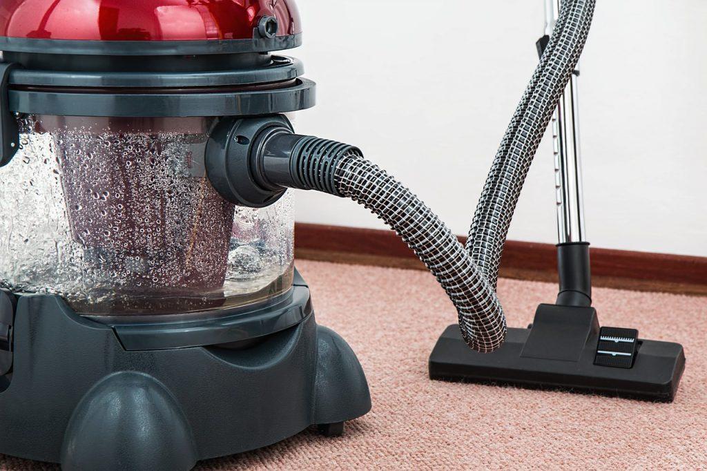 vacuuming high
